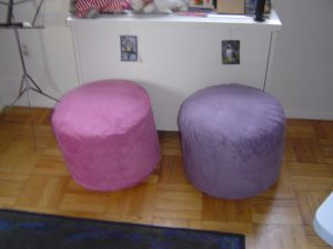 Wisteria and Magenta Poufs 300
