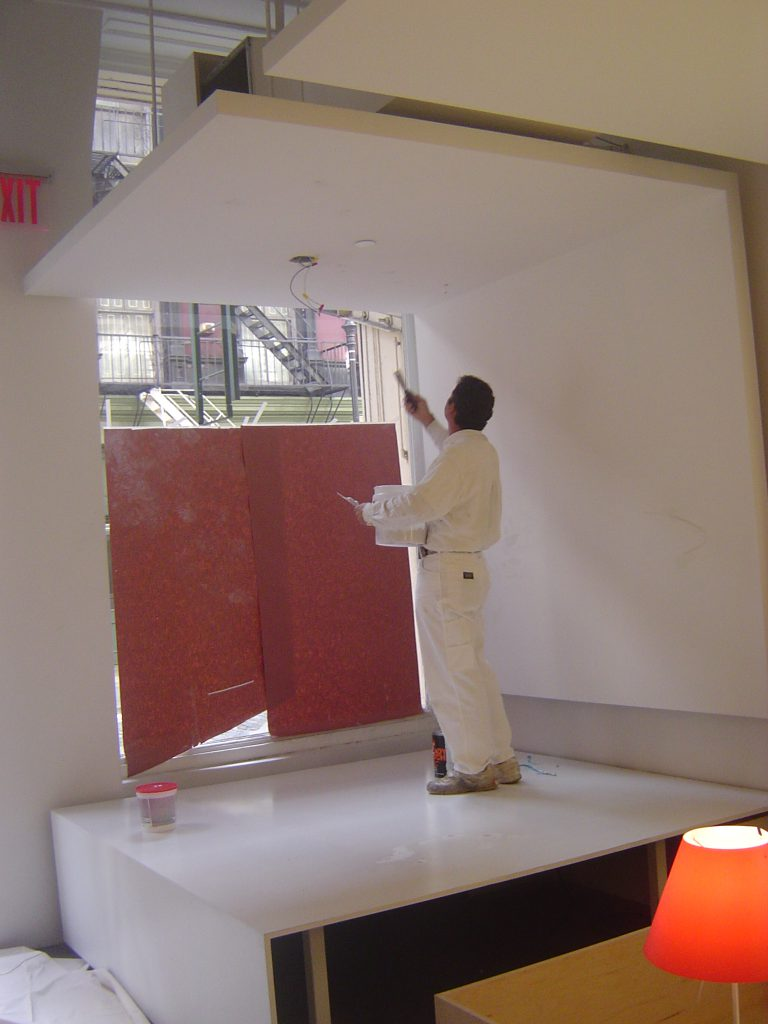 Painting the overhang 768