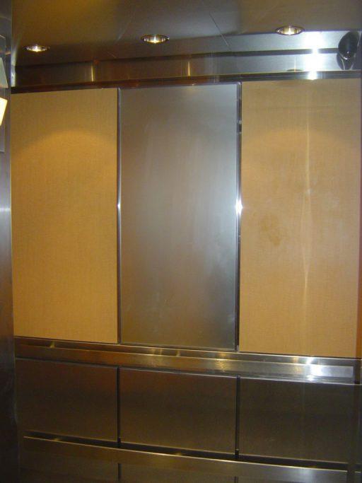 Brushed Steel elevator panel 512